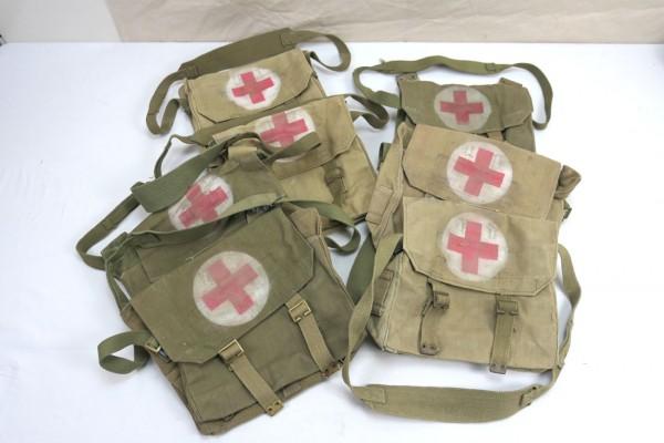 British Army red Cross webbing bag medic bag Red Cross model WW2