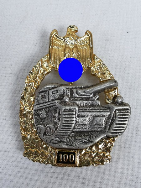 Tank Combat Badge of the Army with mission number 100
