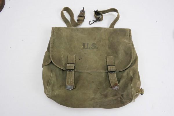 Original WW2 US Army M-1936 Musette Bag Combat Bag M36 Khaki 1943