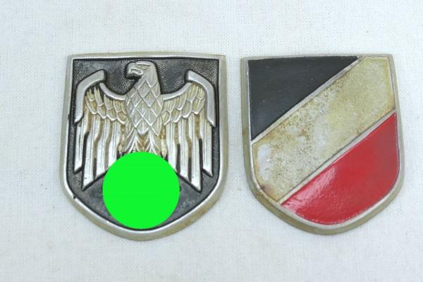 DAK Afrikakorps pith helmet set insignia army aluminum at cotter pins
