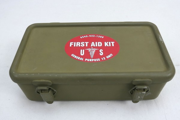 Original US ARMY First Aid Kit Box Emergency First Aid Kit Motor Vehicle Willys Jeep MB Ford
