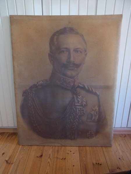 Picture Kaiser Wilhelm II on canvas 145 x 110cm