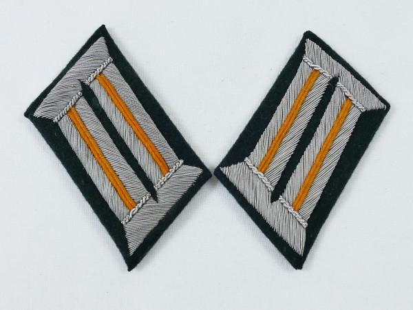 Wehrmacht field gendarmerie officer collar mirror on M36 base