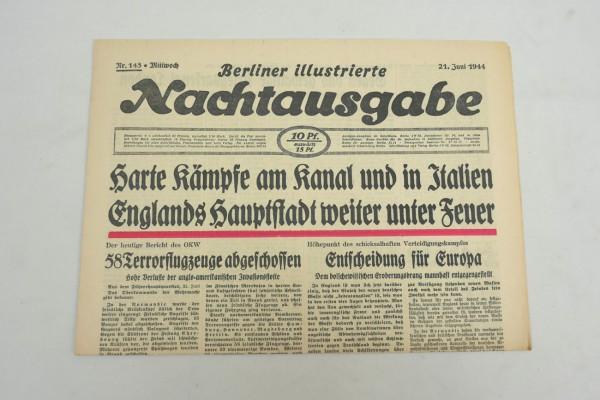 WK2 daily newspaper Berliner Illustrierte Nachtausgabe newspaper 21 June 1944