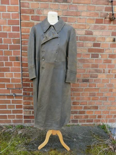 Vintage Wehrmacht Officers Coat Leather Coat Gr.50/52