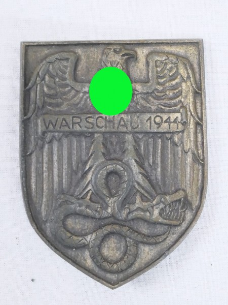 sleeve shield Warsaw 1944 on cloth / sleeve coat of arms / badge