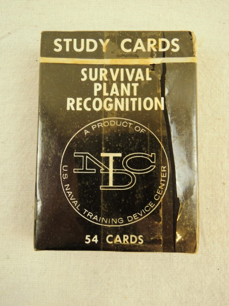 US Navy Study Cards Survival Plant Recognition