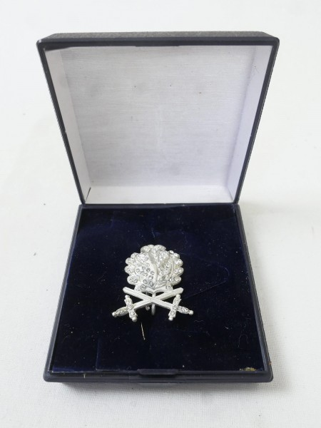 Oak leaves in 900 silver with swords and diamonds Knight's cross RK