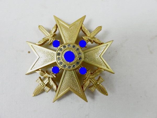 Spain Cross in Gold with Swords and Diamonds Cross of Honour