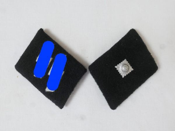 Waffen Elite collar mirror / Unterscharführer Junker NCO , pair