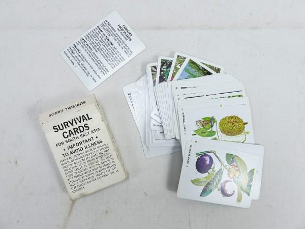 U.S. Army Original Survival cards set 1968 set of cards Flora & Fauna South East Asia