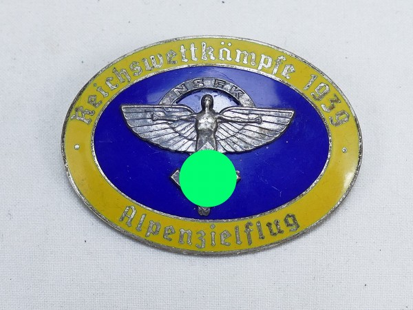 Badge badge Reich competitions of the NSFK air corps Alpenzielflug 1939