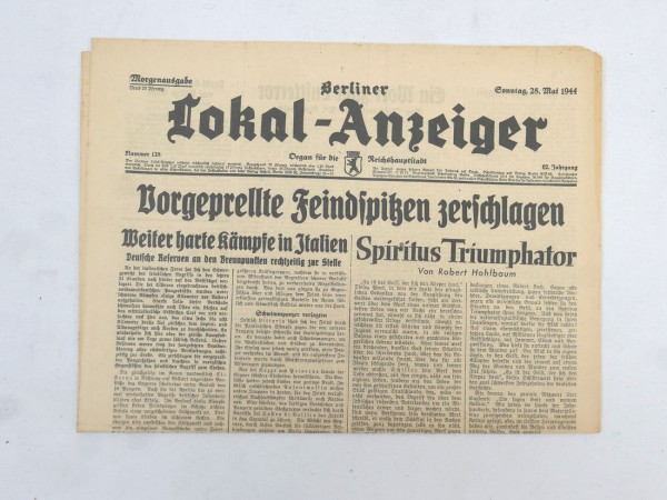 WK2 Complete daily newspaper - Berliner Lokal-Anzeiger 28 May 1944 - morning edition