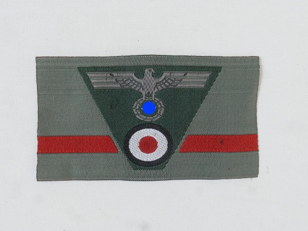 Wehrmacht army trapeze cap badge M40 cap eagle woven field cap M43