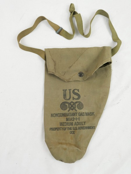 US original WW2 MIA2-I-I Gasmask Bag Bag Gas Mask Bag Mask Bag 1943