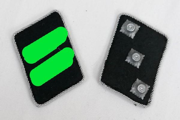 Waffen Elite collar mirror flat design for Untersturmführer / Leutnant