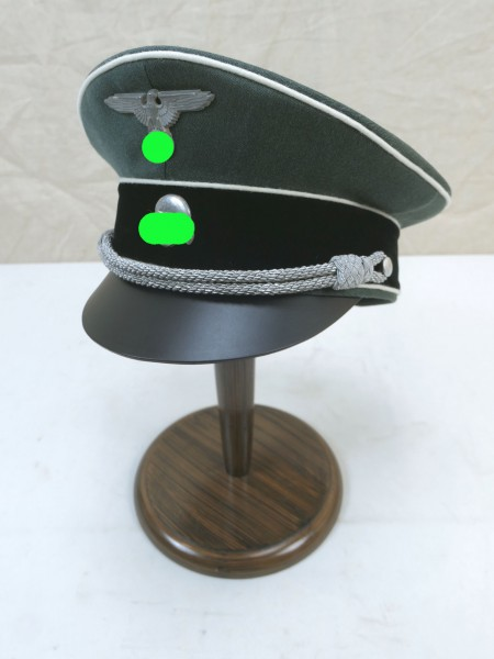 WSS Weapons Elite Officer Visor Cap Gabardine - Silvered Effects Gr.59
