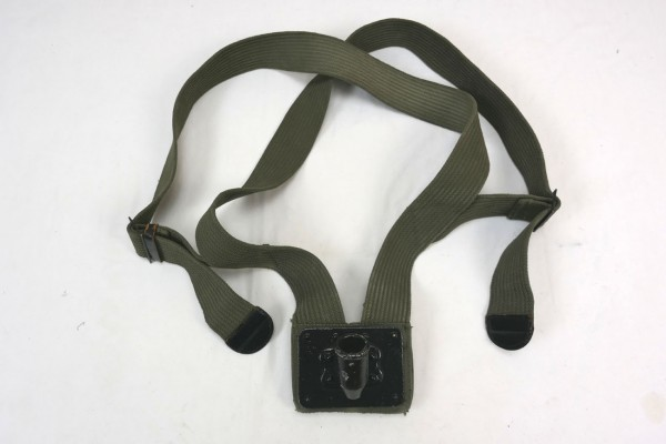 WWII Original US Army Flag Bearer Canvas Flag Pole Carry Belt Sling / Flag Carry Strap Flag Carrier