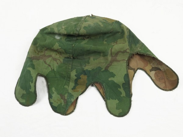 US Army Mitchell Helmet Cover Leaf Pattern Reverseable M1 Helmet Cover Vietnam Camouflage