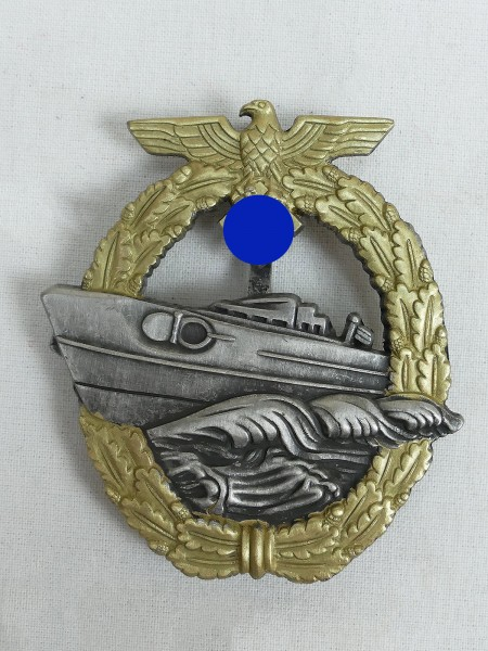 Kriegsmarine Schnellboot War Badge Navy 2.Form