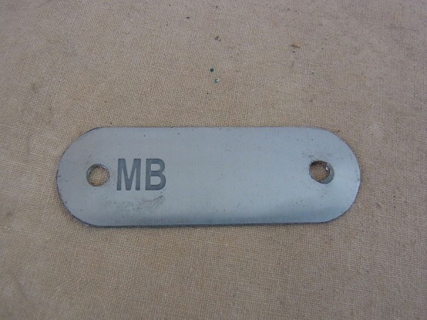 Plate Frame 41/43 Willys MB US plate for identification number