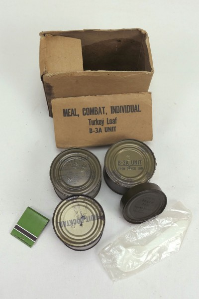 US Army Vietnam Era Meal Combat Individual MRE B-1 A Unit Chicken and Noodles