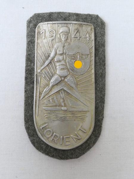 Wehrmacht sleeve shield Lorient 1944 Lorientschild field blouse