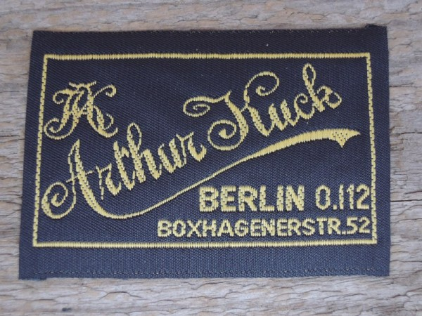 """Uniform Label """"Arthur Kuck Berlin"""""""