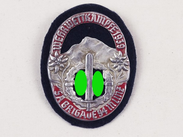 Arm badge military competitions 1939 Brigade 94