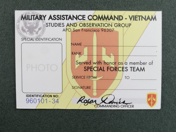 US ARMY Special Identification and Pass / Identity Card Pass Vietnam
