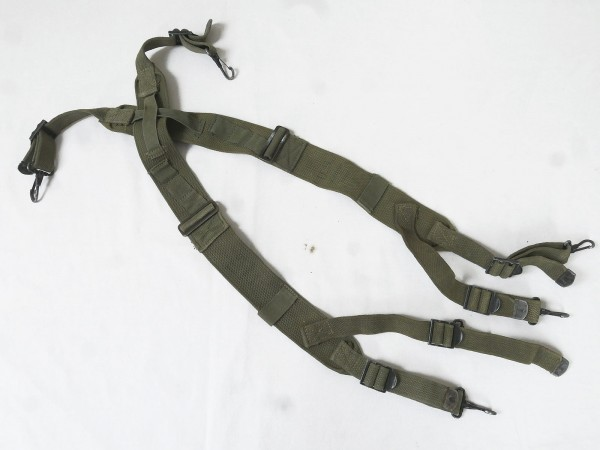 (S5) US Army WW2 M1945 Suspenders / Belt Carrier harness dated from Depot