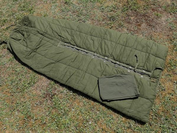 Vintage US Army Vietnam sleeping bag M58 + nylon cover / sleeping bag + cover TYP4