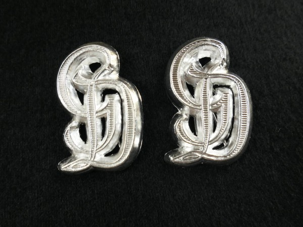 Wehrmacht Großdeutschland GD Edition - 1x pair for shoulder epaulettes silver plated