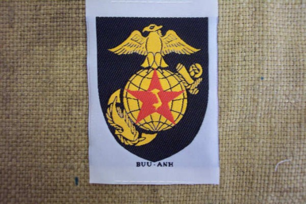 Badge woven for South Vietnamese units Marines