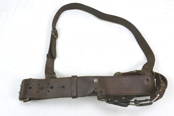 WW2 US Army Officer Sam Brown leather belt + Shoulder Strap / Officer Belt + Shoulder Strap Leather