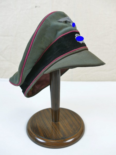 Weapons Elite Tank Gabardine Peaked Cap Crusher Cap Old style with effects Gr. 57