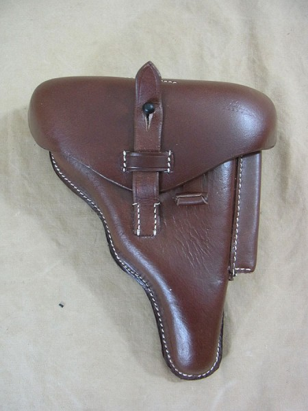 P08 Holster Briefcase DWM 1917 Leather holster Mauser pistol case Police