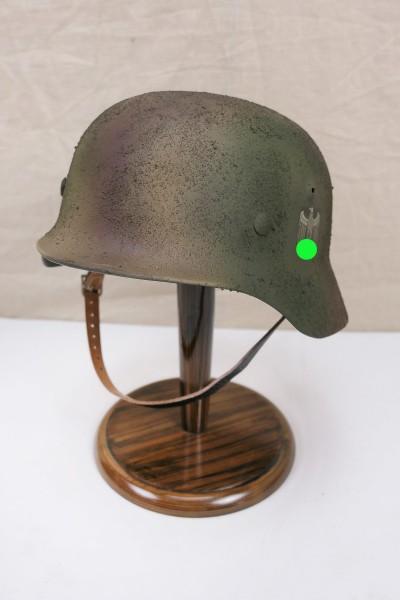 Wehrmacht camouflage DAK Tropen Stahlhelm M35 M40 DD Rauhtarn camouflage helmet size 59/60