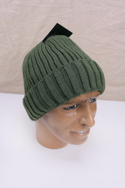 Winter hat knitted hat lined HEAVY KNIT olive