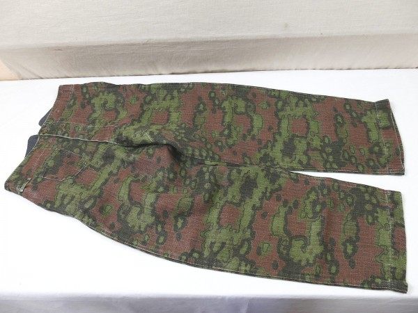 Waffen SS Drillich field trousers oak leaves B spring vintage optic top museum reproduction