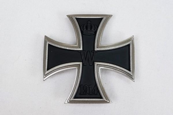 WK1 Iron Cross 1st Class 1914 EK1 on pin curved version