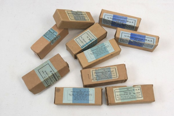 Original Wehrmacht Packaging Box for Rifle Cartridges IS 7,92 × 57 mm / 8 × 57