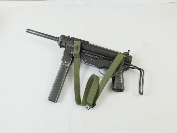 US ARMY WW2 M3 Grease Gun Submachine Gun Cal.45 Deco Model Movie Gun Machine Gun with Carrying Strap