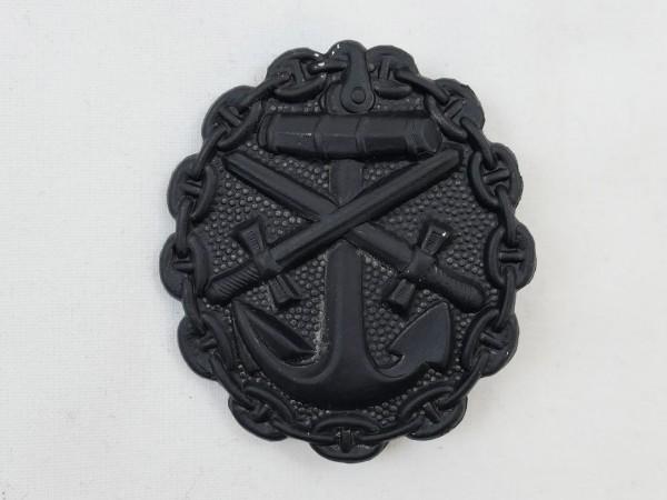 Wounded Badge Kriegsmarine Stage Black