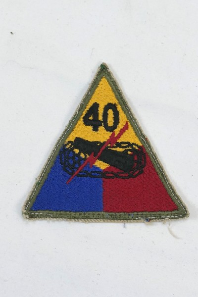 Original WW2 40th Armored Division US Army sleeve patch