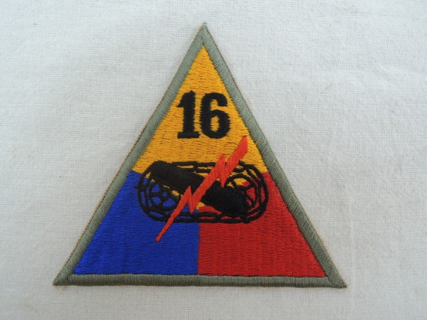 Sleeve Badge 16th Armored Division