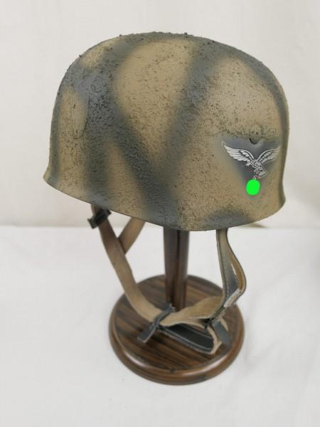 paratrooper helmet Rauhtarn camouflage steel helmet M38 Luftwaffe SD / head size Gr. 57/58