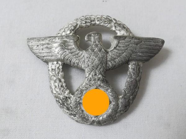 Wehrmacht police cap badge on 2 splints