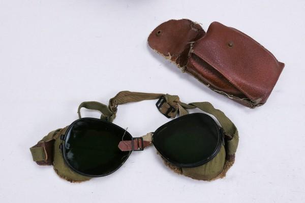 US ARMY WW2 Ski + Mountain Trooper Goggles - Mountain Trooper Goggles in Case