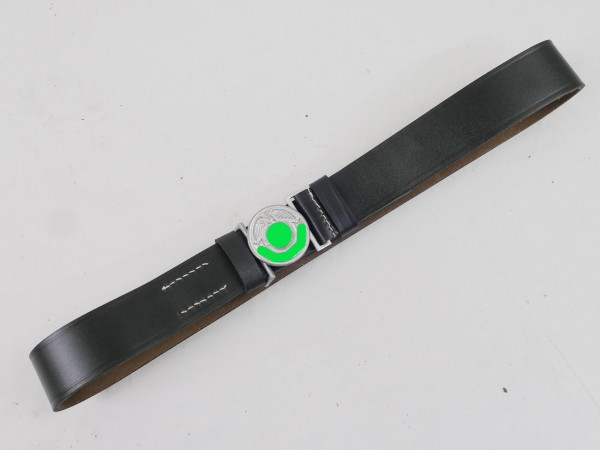 WSS leader leather belt with padlock field bandage padlock 125cm weapons elite